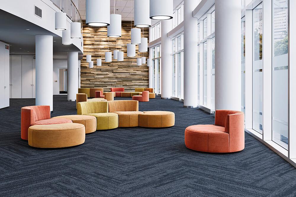 Carpete em Placas Efecto Instalado