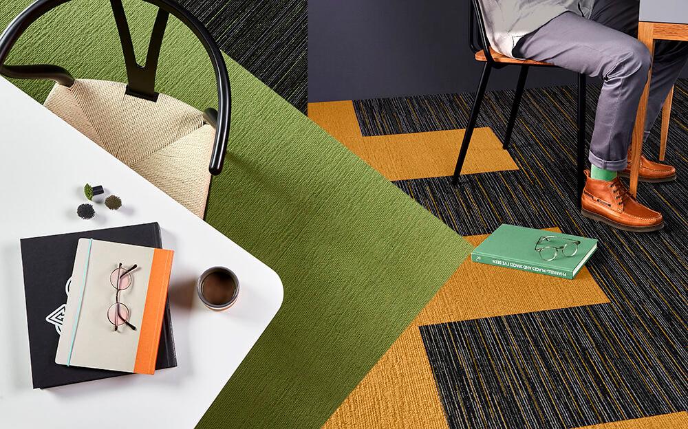 Carpete em Placas Fringe - Instalado
