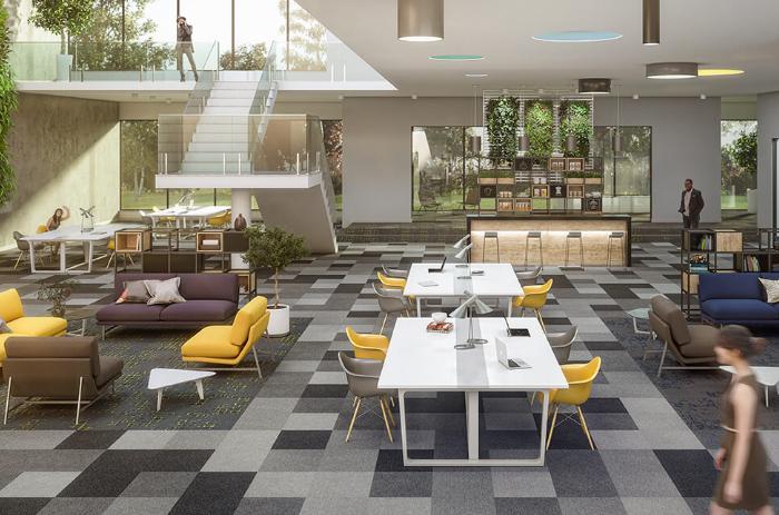 Carpete em Placas Plain Bac _ Instalado