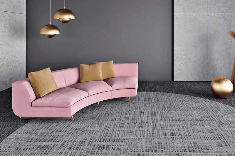 Carpete em Placas 3 Tonos - Instalado
