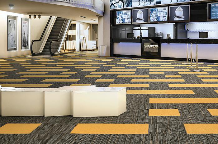 Carpete em Placas tendency Colletion - Instalado